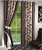 Sajaawat 2 Piece Polyester Long Door Cur...