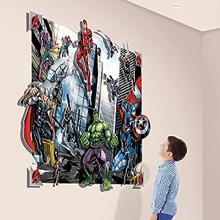 Walltastic Avengers 3D Pop Out Wall Decoration, Paper/Card, Multi-Colour, 52.5 x 4 x 56 cm