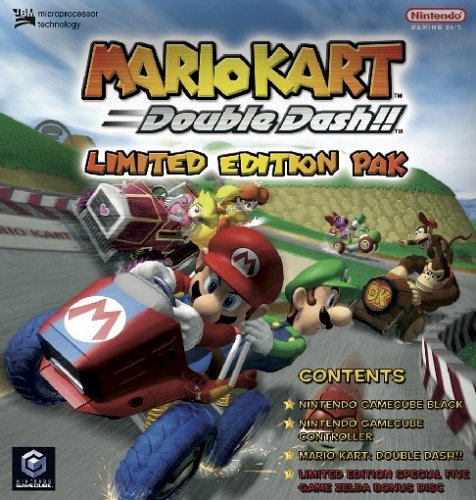 "GameCube - Konsole, black \""Mario Kart: Double Dash!! Limited Edition Pak\"" (Bonus-Disc mit 4"