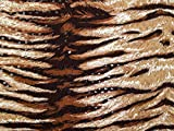 sequinned Tiger Print Stretch Jersey Kleid Stoff -,
