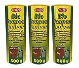 Preisjubel 6 x 500g Biotonnenpulver Mülleimer-Pulver, Vorbeugen gegen Maden Abfalltonne