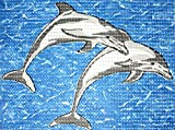Friedola 77898 Universalmatte, PVC Weichschaum, Dolphins, 80 x 48 x 1 cm