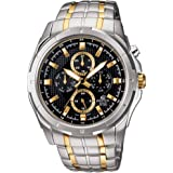 Casio Edifice Men's Black Dial Stainless Steel Analog Watch - EF-328SG-1AVUDF