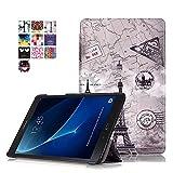 DETUOSI Samsung Galaxy Tab A6 10.1 Zoll Smart Case, Hochwertiges PU Lederhülle Multi-Standfunktion Cover für Samsung Galaxy Tab A (2016) SM-T580N/T585N 25,54 cm (10,1 Zoll) Tasche mit Magnetic