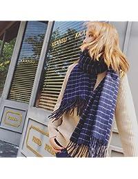 dbe0724d20af Yetta Hiver écharpe épaisse Sauvage Hiver Hiver Femme étudiante Chaude  écharpe Grand châle Pompon ...