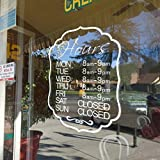 Personifizierte Tür-Fenster-Abziehbild-Aufkleber-Dekor-kundenspezifische Shop Öffnungszeiten Shop Zeiten Öffnungs
