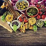 Artland Qualitätsbilder I Glasbilder Deko Glas Bilder 20 x 20 cm Ernährung Genuss Lebensmittel Gemüse Foto Bunt D8OB Italienisch mediterrane Lebensmittel