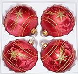 4 tlg. Glas-Weihnachtskugeln Set 10cm Ø in