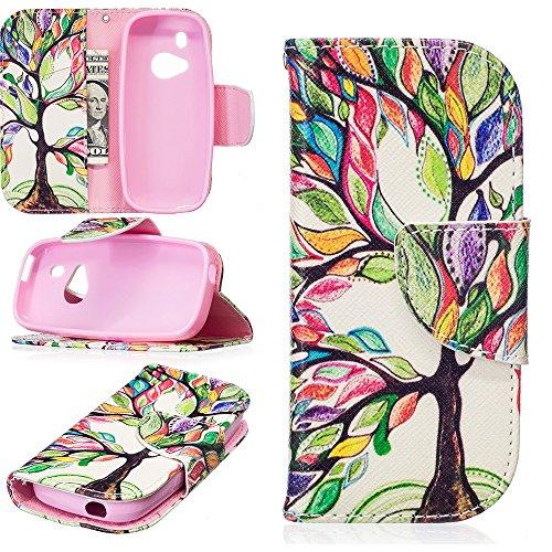 JARNING Compatibile con Nokia 3310 2017 Custodia Cover PU Pelle Pattern Wallet Protettiva Flip Case with Funzione Magnetica Chiusura (Albero colorato)