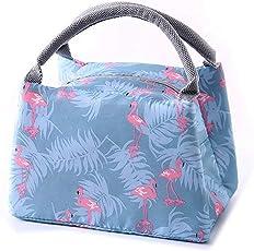GETKO WITH DEVICE Premium Canvas Cartoon Tiffin Thermal Bag (Multicolour)