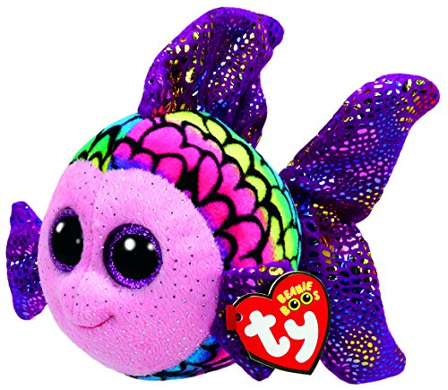 Beanie Boo Fish - Flippy - Multicoloured - 15cm 6""