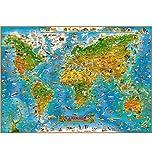 Puzzle House- Animal Map of The World, Puzzle in Legno di Tiglio, Perfect Cut & Fit, 1000/1500/2000/3000/5000 Puzzle in Scatola di Pezzi Giocattoli Gioco Pittura di Arte per Adulti e Bambini -411