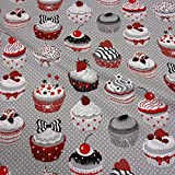 Stoff Baumwollstoff Baumwolle Muffins Törtchen Kuchen