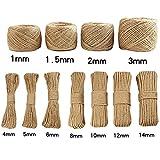 LanLan Handmade Jute Rope DIY Vintage Rope Decoration: 2mm Rope 100 Meters 1 Volumes of Yellow Soil