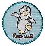 alles-meine.de GmbH Nici Pinguin 6,9 cm * 6,9 cm Bügelbild Aufnäher Applikation - Pinguine Keep Cool lustig Antarktis Zootier