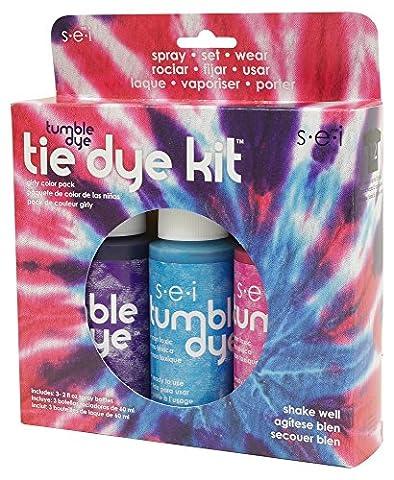 SEI Tumble Dye Craft and Fabric Tie-Dye Kit 2 Oz 3 kg-Girly Girl