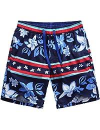 Hombre Impreso Bañador de natación bermudas Playa Pantalones cortos