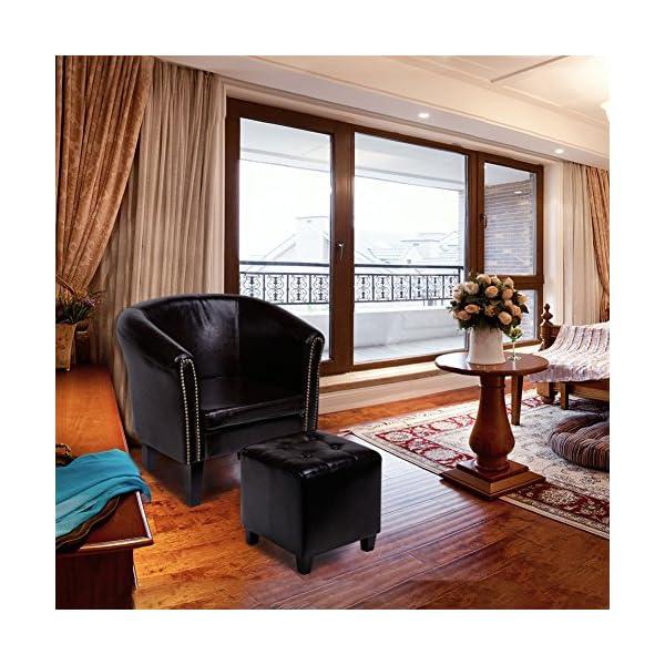 Cclife Chesterfield Lounge Sessel Mit Sitzhocker Klassisches