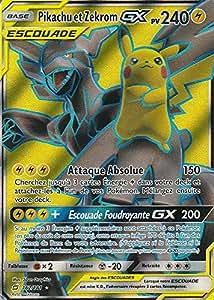 Carte Pokémon SL9 : Pikachu et Zekrom GX 240 PV 162/181