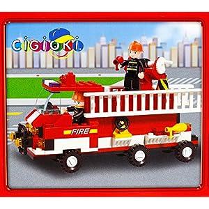 Vetrineinrete® Costruzioni per Bambini 175 Pezzi da assemblare Camion Pompieri con scaletta e Personaggi Inclusi Vigili… 0793597050847 LEGO