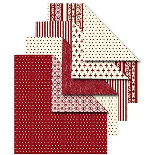 Origamipapier, Sortiment, 10x10 cm, Copenhagen, 50 sort. Blatt -