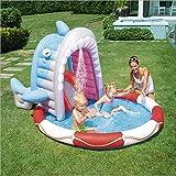 WJSW aufblasbare Spielwaren Sommer-Haifisch-Brunnen-aufblasbarer Swimmingpool der Kinder,...