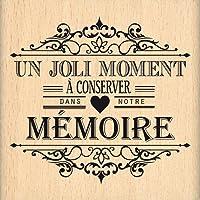 Florilèges Design FE114001 Tampon Scrapbooking Moment à Conserver Beige 7 x 7 x 2,5 cm