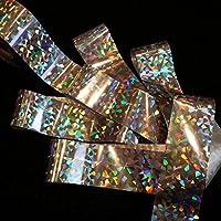 SILVER BROKEN GLASS Holographic Nail Art Foil