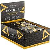 Marchio Amazon - Amfit Nutrition Barretta proteica a basso contenuto di zuccheri (19,8gr proteine - 2,1gr zucchero) - cioccol