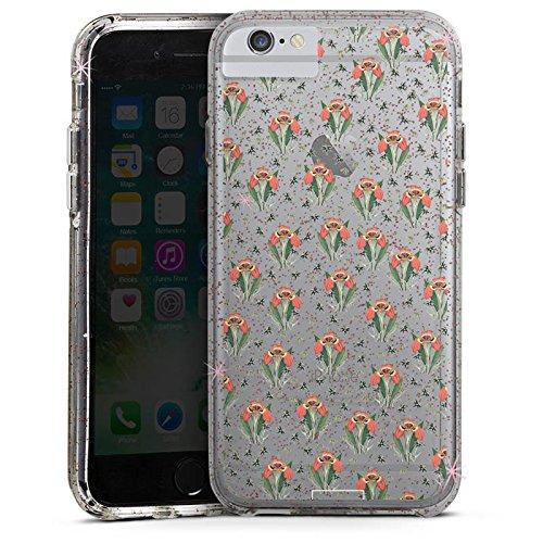 Apple iPhone 6s Plus Bumper Hülle Bumper Case Glitzer Hülle Tigerlily ohne Hintergrund Steinrohner Blumen Bumper Case Glitzer rose gold