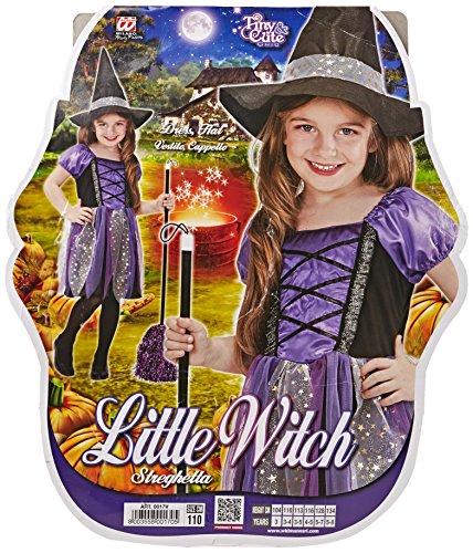erkostüm kleine Hexe Kleid, Hut, Größe 110, mehrfarbig (Hexe Kostüm Für Kleinkind Mädchen)
