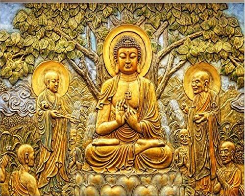 Benutzerdefinierte tapete goldene relief linden Buddha TV hintergrund wand wohnzimmer schlafzimmer wandbild 3d wallpaper, 200cmX140cm Linden Wallpaper