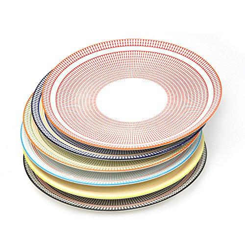 Speiseteller-Set, 6verschiedene Farben (10-1/10,2cm)-für Gerichte, Salate, Pasta-FDA genehmigt Plates ()