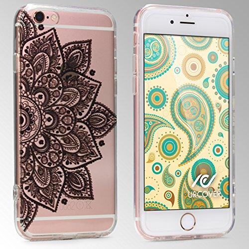 "[TREND] Original Urcover® Apple iPhone 6 / 6s (4,7 "") TPU Case Durchsichtig mit Muster Schutzhülle Cover Silikon | Deutscher Fachhandel | Mandala Schwarz Mandala Schwarz"