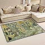 Fantazio Bereich Teppich Van Gogh The Road Flicken Eintrag Fußmatten gerade Teppich Greifer Polyester für Ecken und Edge anti-curling ideal Teppich Stopper für Küche/Badezimmer 78,7x 50,8cm/152,4x 99,1cm, Polyester, 1, 60 x 39 inch