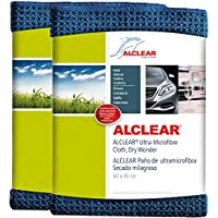ALCLEAR car microfibre cloth dry miracle for car care, car paint, motorcycle, kitchen and household use - Microfibre tea towel - soft dry cloth - Set of 2-60x40 cm blue preiswert