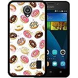Funda Huawei Ascend Y635, WoowCase [ Huawei Ascend Y635 ] Funda Silicona Gel Flexible Donuts, Carcasa Case TPU Silicona - Negro