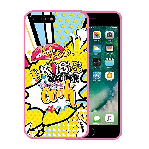 iPhone 7 Plus Hülle, WoowCase Handyhülle Silikon für [ iPhone 7 Plus ] Astronaut Gay Flagge Handytasche Handy Cover Case Schutzhülle Flexible TPU - Transparent Housse Gel iPhone 7 Plus Rosa D0479