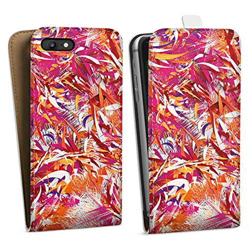 Apple iPhone X Silikon Hülle Case Schutzhülle Farben Muster Chaos Downflip Tasche weiß
