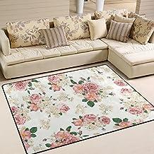 Teppich Modern Designer Wohnzimmer Inspiration Allure Floral Bluten