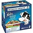 Felix So gut wie es aussieht Katzenfutter Doppelt Lecker mit Gemüse Geschmacksvielfalt vom Land MP24, 4er Pack (4 x 2,4 kg)