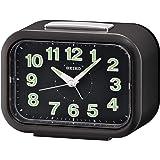 ساعة منبه لوميبرايت مزودة بعقرب ثواني اخر من سيكو - اسود - Qhk026kl