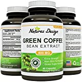 Pure Green Coffee Bean Extract - Highest Grade & Quality Antioxidant GCA (Standardized to 50% Chlorogenic Acid) for Men & Women (Best Formula) - Burns Both Fat and Sugar As Doctors Recommend - Guaranteed By Natures Design by Natures Design immagine