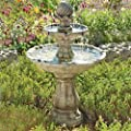 Solar Powered Classical Tier Bird Bath Water Feature from DIY2GO Ltd