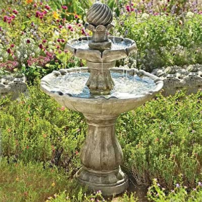Solar Powered Classical Tier Bird Bath Water Feature from DIY2GO Ltd