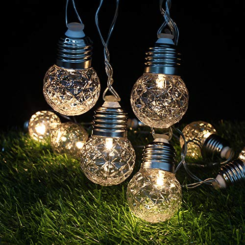 Kingko ® 6M 20 LED Pineapple Bulb Ball Light String, USB Powered Fairy Tale Christmas Lights, Outdoor Home Decor Solar Lights, Garden, Patio, Lawn, Party and Holiday (Warm White) (Warm White)
