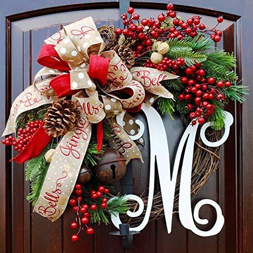 IF.HLMF Weihnachtskranz, amerikanischer Goldkranz an der Vordertür, künstliche Außendekoration, Deko-Ornament, Weihnachtsbaum