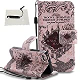 TOCASO Glitter Pink PU Schutzhülle für iPhone 5 / 5S / SE Hülle Leder Tasche Flip Cover Wallet Case Telefon Tasche Kreativ tasche Handyhülle Stand Ständer Magnet Shell Fall Schale Pen-Schloss