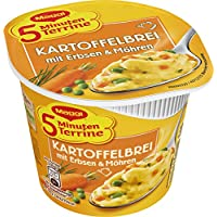 Maggi 5minutos de sopera brei patatas de guisantes y zanahorias (Pack de 8, 8x 48g Taza)