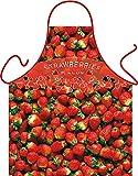 Erdbeeren Strawberries Fields - Fun Motiv Schürze - mit Gratis-Urkunde